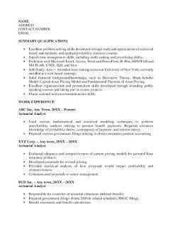 Actuarial Analyst Resume > Actuarial Analyst Resume .Docx (Word)