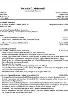 CV of Elementary Teacher Resume > CV of Elementary Teacher Resume .Docx (Word)
