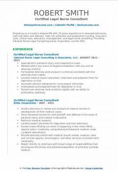 Certified Legal Nurse Consultant Resume > Certified Legal Nurse Consultant Resume .Docx (Word)