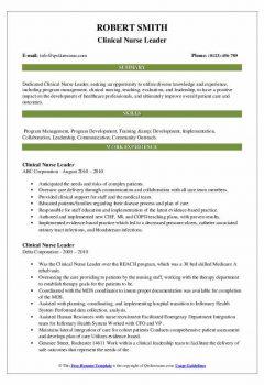 Clinical Nurse Leader Resume > Clinical Nurse Leader Resume .Docx (Word)