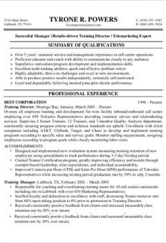 Customer Service Call Center Resume Sample