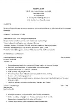 Customer Service Resume Format
