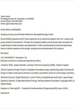 Electrical Engineering Student Resume > Electrical Engineering Student Resume .Docx (Word)