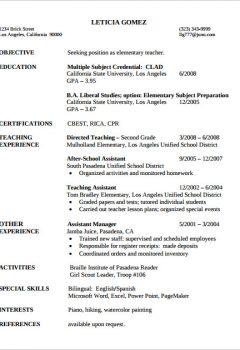 Elementary Teacher Sample Resume >Elementary Teacher Sample Resume .Docx (Word)