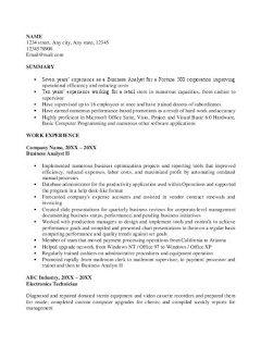 Business Analyst Skills Resume > Business Analyst Skills Resume .Docx (Word)
