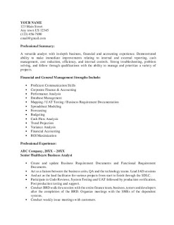 Healthcare Business Analyst Resume