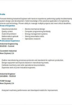 Industrial Engineering Resume Example > Industrial Engineering Resume Example .Docx (Word)