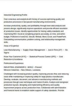 Industrial Engineering Resume Sample > Industrial Engineering Resume Sample .Docx (Word)