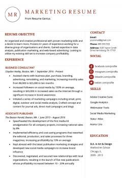 Marketing Resume Example > Marketing Resume Example .Docx (Word)