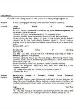 Mechanical Engineering Student Resume > Mechanical Engineering Student Resume .Docx (Word)