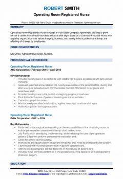 Operating Room Registered Nurse Resume > Operating Room Registered Nurse Resume .Docx (Word)