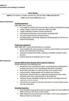 PDF Printable Teaching CV Template > PDF Printable Teaching CV Template .Docx (Word)