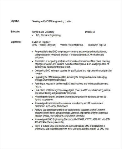 Professional Engineering Resume Example