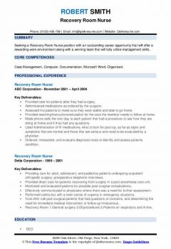 Recovery Room Nurse Resume > Recovery Room Nurse Resume .Docx (Word)