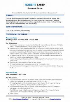 Resource Nurse Resume > Resource Nurse Resume .Docx (Word)