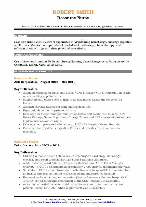 Resource Nurse Resume7
