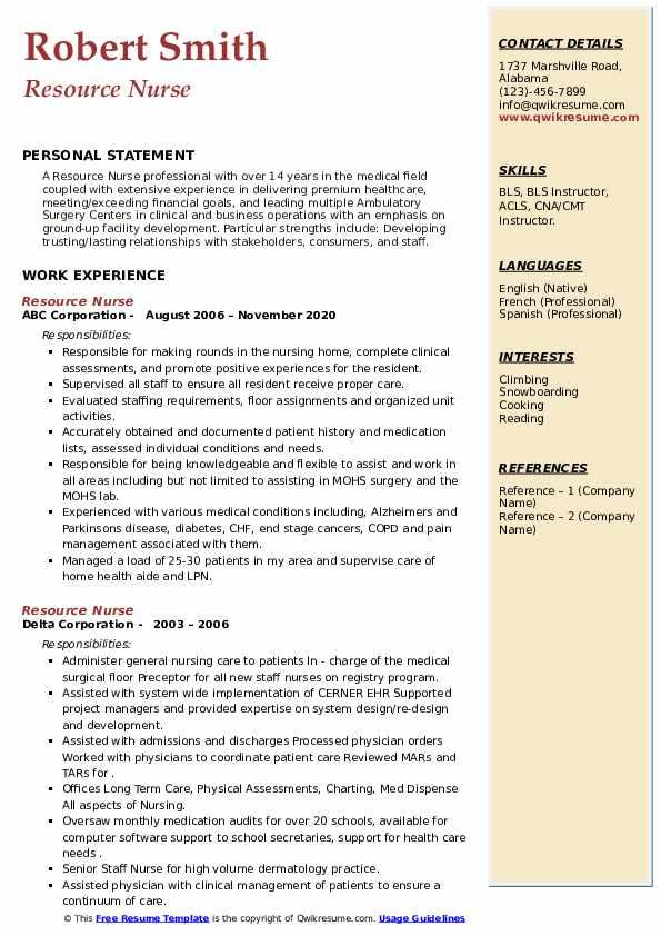 Resource Nurse Resume8