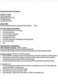 Sample Engineering Student Resume > Sample Engineering Student Resume .Docx (Word)