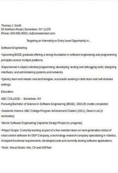 Software Engineering Fresher Resume > Software Engineering Fresher Resume .Docx (Word)