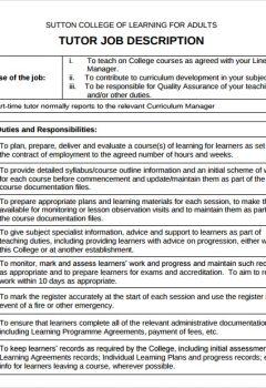 Tutor Description on Resume > Tutor Description on Resume .Docx (Word)