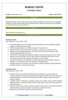 Veterinary Nurse Resume > Veterinary Nurse Resume .Docx (Word)