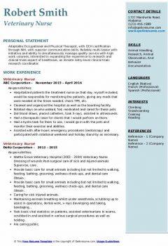 Veterinary Nurse Resume4 .Docx (Word)