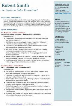 Sr. Business Sales Consultant Resume > Sr. Business Sales Consultant Resume .Docx (Word)