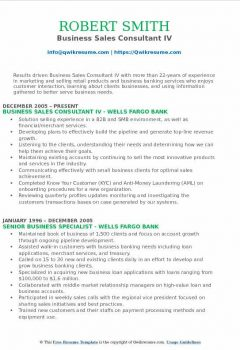 Business Sales Consultant IV Resume > Business Sales Consultant IV Resume .Docx (Word)