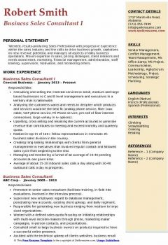 Business Sales Consultant I Resume > Business Sales Consultant I Resume .Docx (Word)