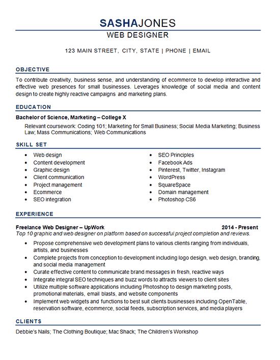 Web Desiger Resume
