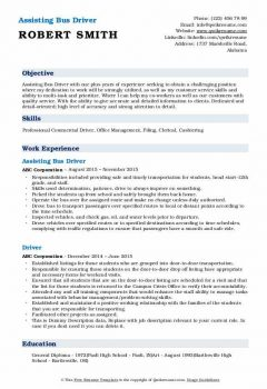Assisting Bus Driver Resume1 .Docx (Word)