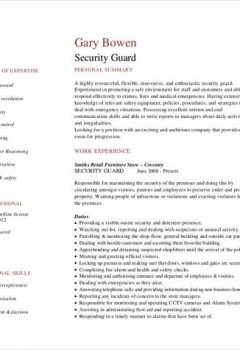 Experienced Security Guard