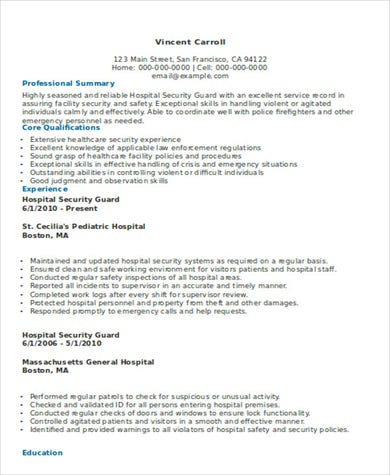 Hospital Security Guard .Docx (Word)