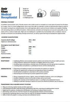 Medical Receptionist Resume .Docx (Word)