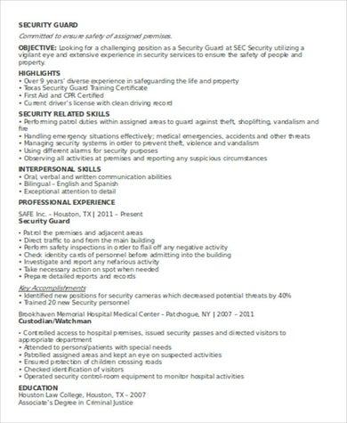Security Guard Job .Docx (Word)