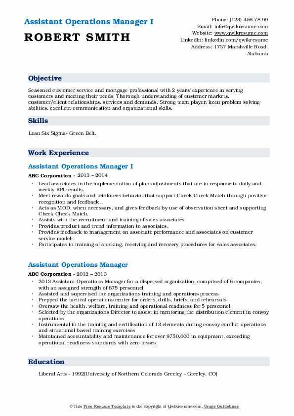 Lead Cashier/Server Resume