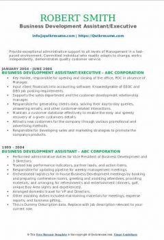 Business Development Assistant/Executive Resume .Docx (Word)