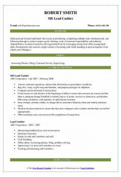 Sift Lead Cashier Resume > Sift Lead Cashier Resume .Docx (Word)
