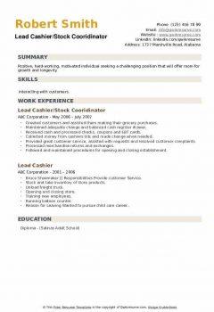 Lead Cashier/Stock Cooridinator Resume > Lead Cashier/Stock Cooridinator Resume .Docx (Word)