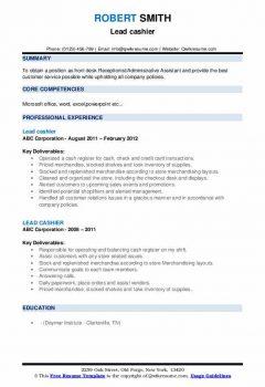 Lead cashier Resume > Lead cashier Resume .Docx (Word)