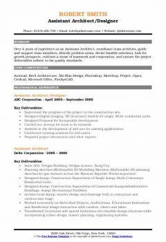 Assistant Architect Designer Resume > Assistant Architect Designer Resume .Docx (Word)