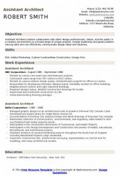 Assistant Architect Resume > Assistant Architect Resume .Docx (Word)