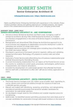 Assistant Senior Enterprise Architect I Resume > Assistant Senior Enterprise Architect I Resume .Docx (Word)