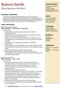 Data Systems Architect Resume