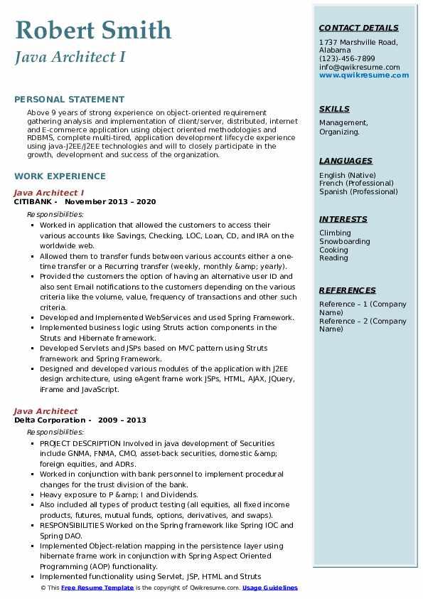 Java Architect Resume8