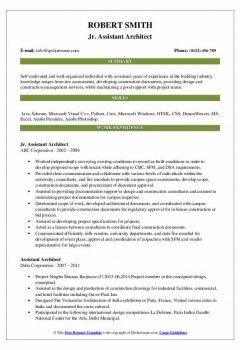 Jr. Assistant Architect Resume > Jr. Assistant Architect Resume .Docx (Word)