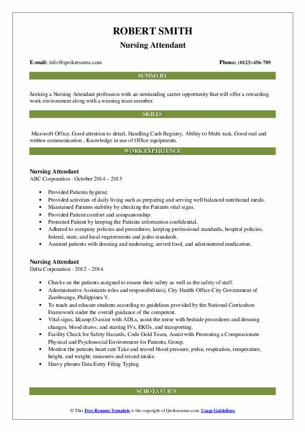 Nursing Attendant Resume2