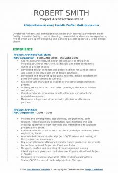Project Architect/Assistant Resume > Project Architect/Assistant Resume .Docx (Word)