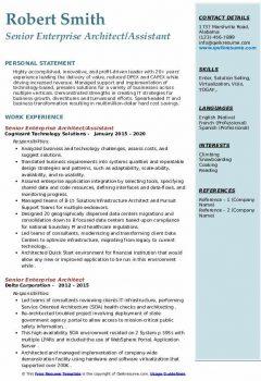 Senior Enterprise Architect/Assistant Resume > Senior Enterprise Architect/Assistant Resume .Docx (Word)