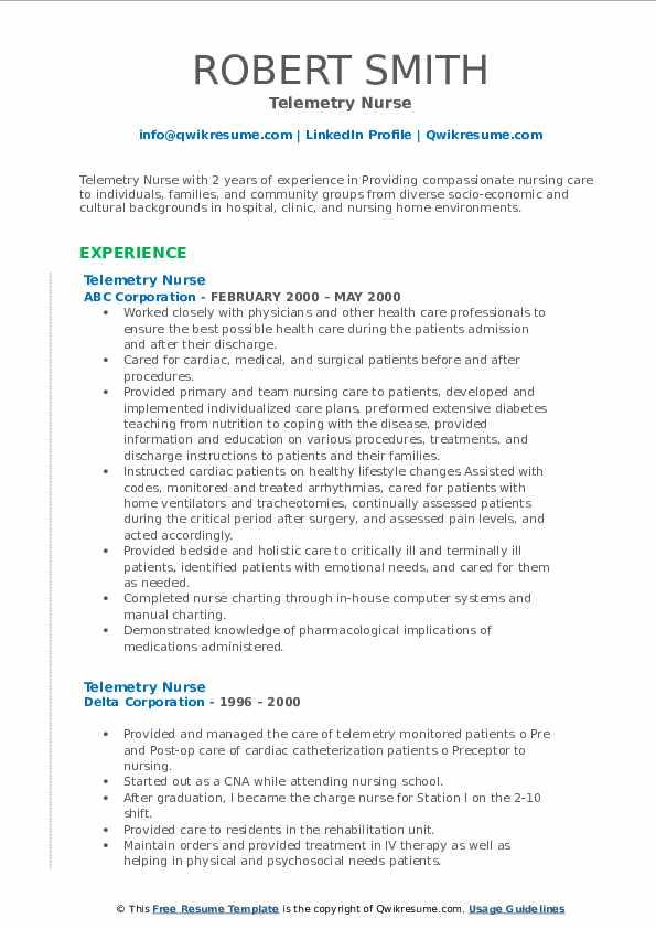 Telemetry Nurse Resume3